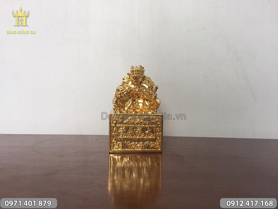 Ấn Rồng Cửu Long, ấn rồng phong thủy thếp vàng