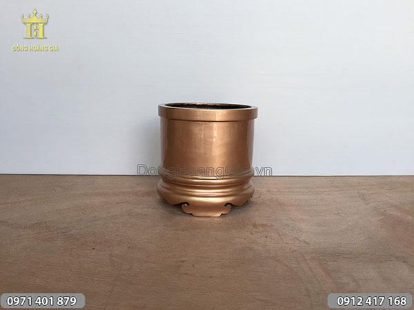 Bát hương đồng đỏ trơn đường kính 20cm