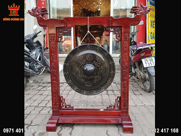 Chiêng Đồng Song Long Chầu Nguyệt 1M27