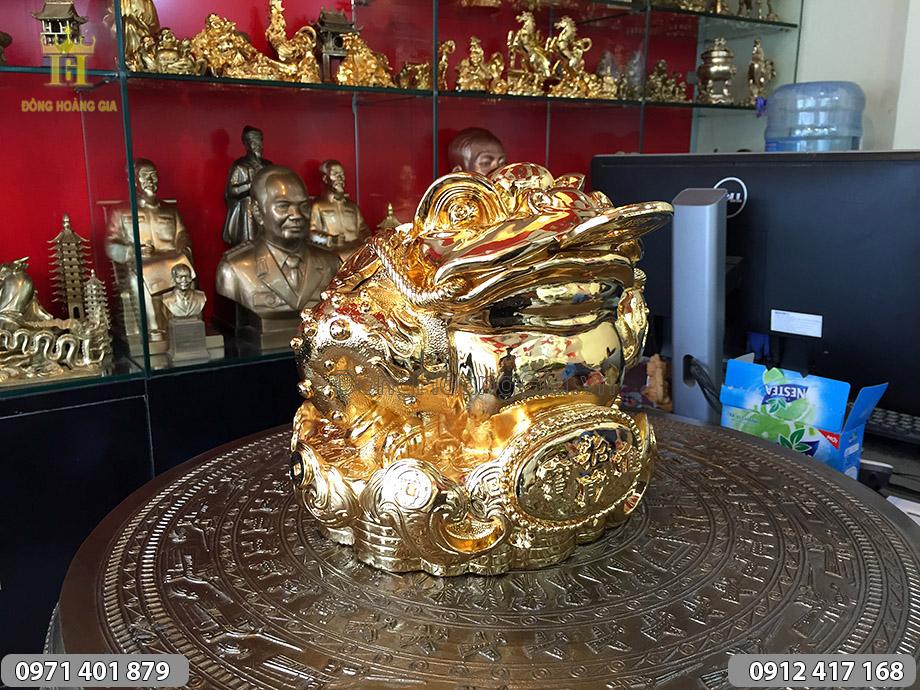Cóc đồng ba chân mạ vàng kích thước 28cm