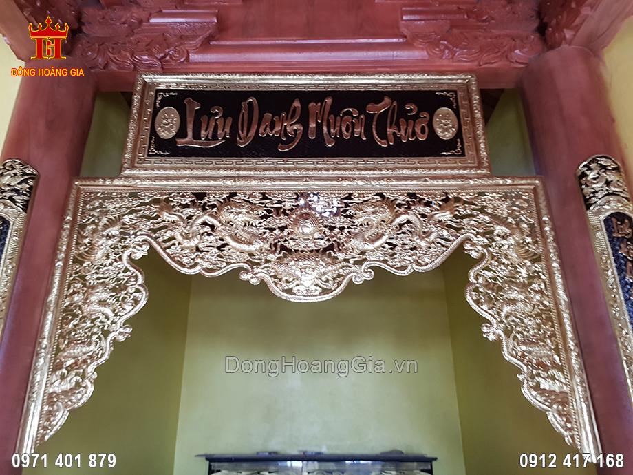 Cửa Võng Chạm Tứ Linh Đồng Đỏ 2M51 Cho Khách Lạng Sơn