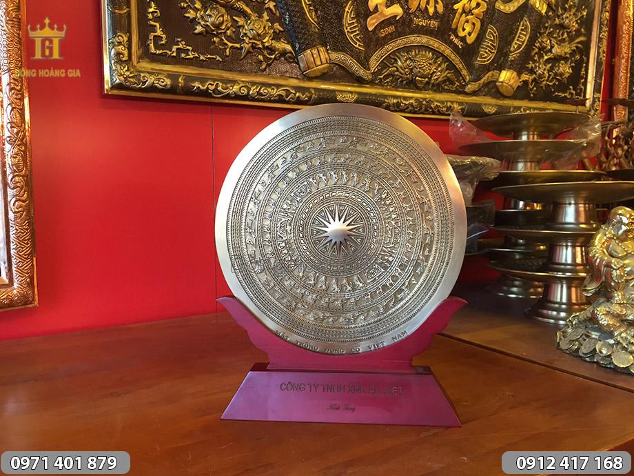 Đĩa đồng mặt trống đồng quà tặng 30cm