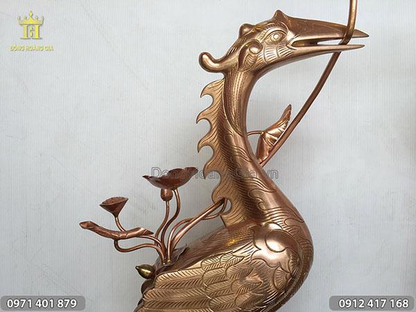 Hạc đồng thờ cúng loại đẹp cao 70cm