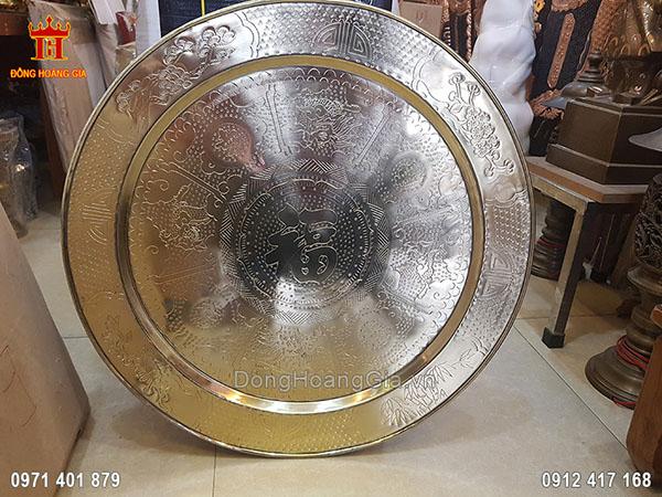 Mâm Đồng Chữ Phúc 52Cm