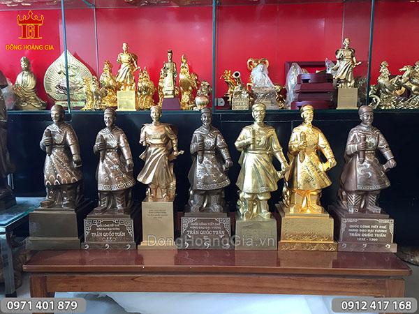 Một số mẫu tượng đồng Trần Hưng Đạo 50cm