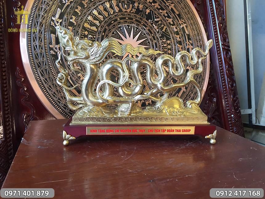 Quà tặng tượng Rồng bằng đồng 30cm