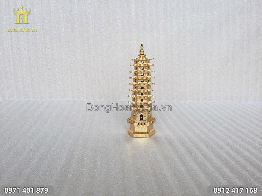 Tháp Văn Xương 9 tầng mạ vàng 24K cao 23cm