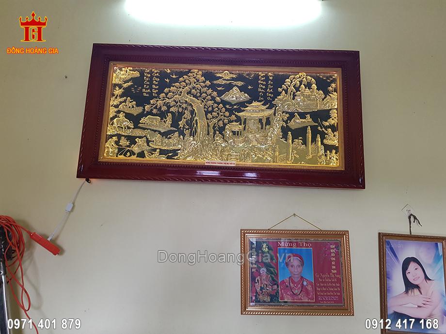 Tranh Đồng Quê Đồng Vàng 1M55