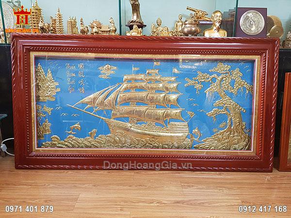 Tranh Đồng Thuận Buồm Xuôi Gió 1M55