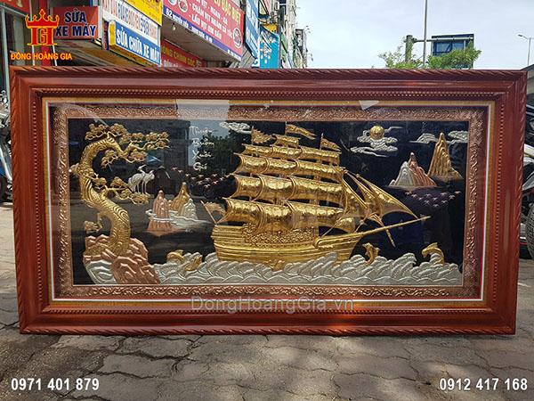 Tranh Đồng Thuận Buồm Xuôi Gió Mạ Tam Khí 1M76