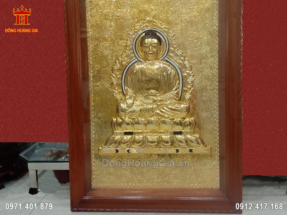 Tranh đồng tượng phật A Di Đà mạ vàng 24K 1m3