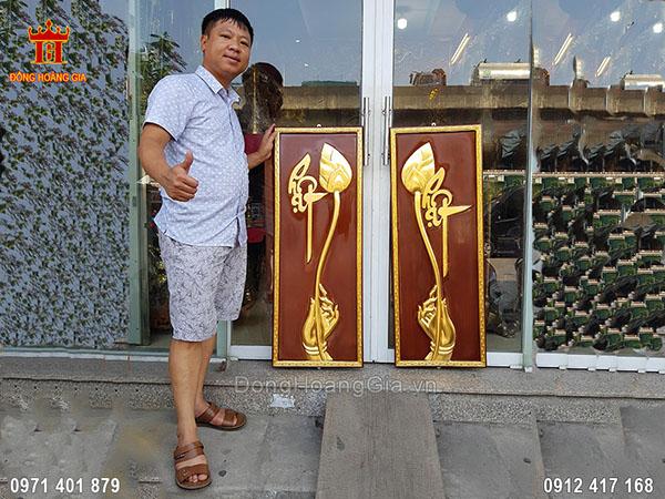 Tranh Gỗ Chữ Phật Dát Vàng 9999 1M2