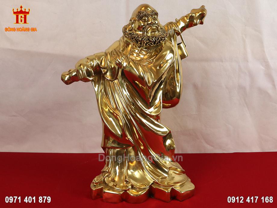 Tượng Đạt Ma sư tổ bằng đồng vàng