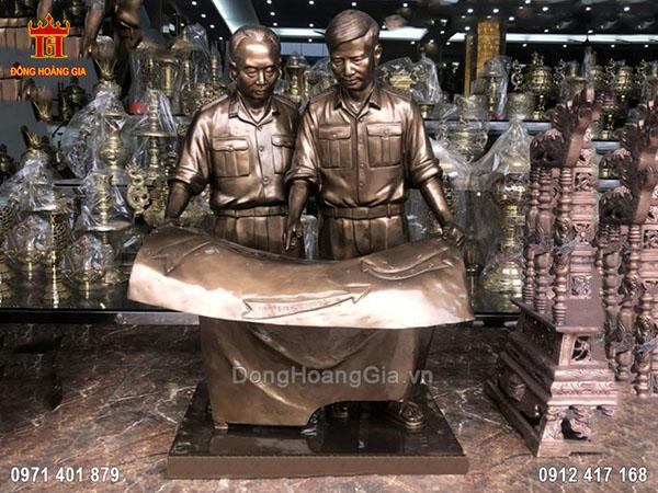 Tượng Đồng Bác Giáp và Bác Nguyễn Chí Thanh