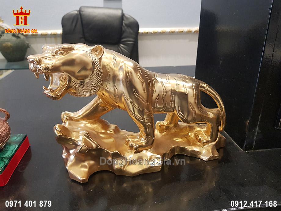 Tượng Đồng Hổ Dát Vàng 9999