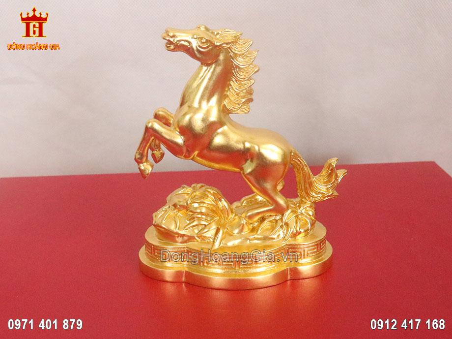 Tượng đồng ngựa phong thủy dát vàng 9999