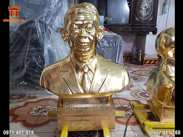 Tượng Đồng Truyền Thần Dát Vàng 9999