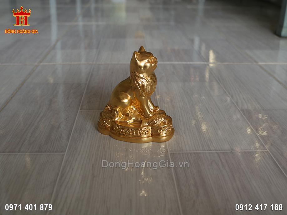 Tượng Mèo phong thủy may mắn cỡ nhỏ