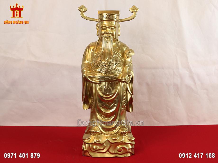 Tượng Ông Lộc bằng đồng vàng