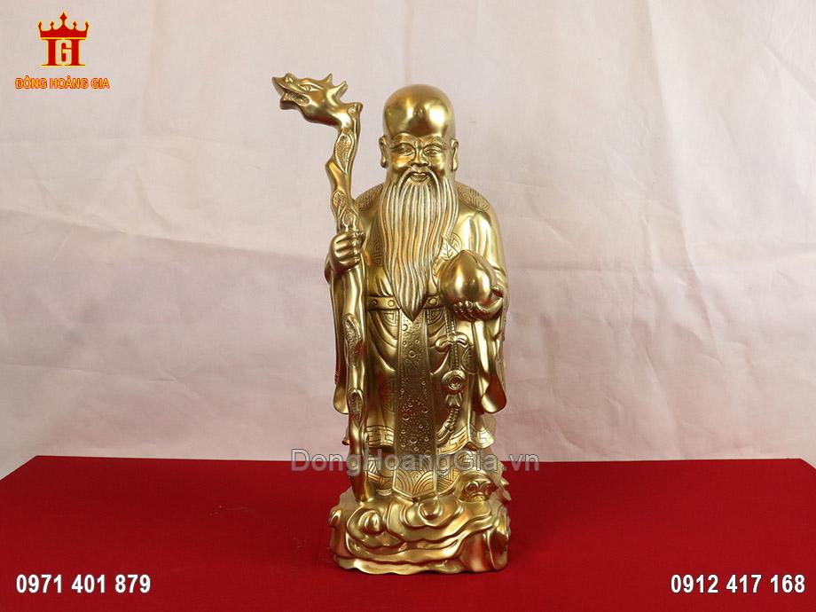 Tượng Ông Thọ Đào bằng đồng vàng