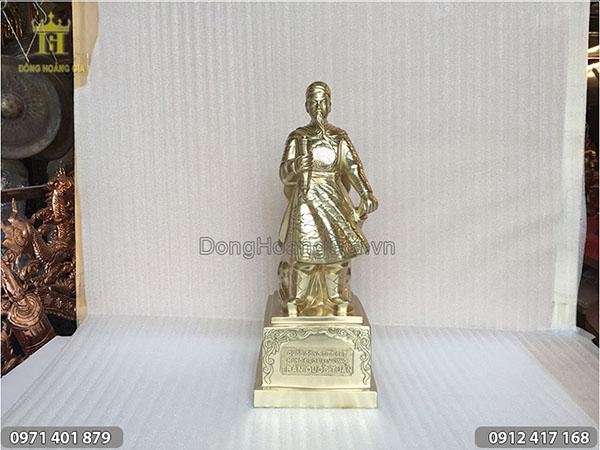 Tượng Trần Hưng Đạo đồng cát tút cao 50cm