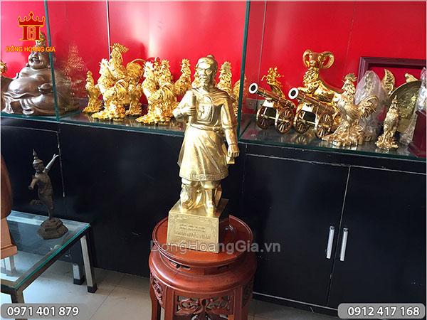 Tượng Trần Hưng Đạo đồng katut 50cm